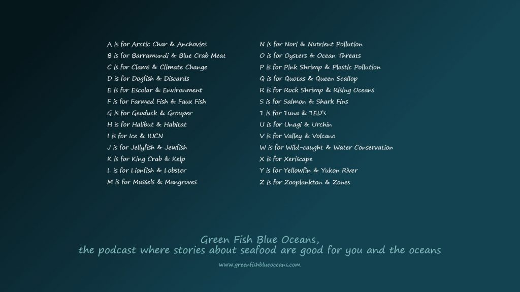greenfishblueoceans A-Z show list