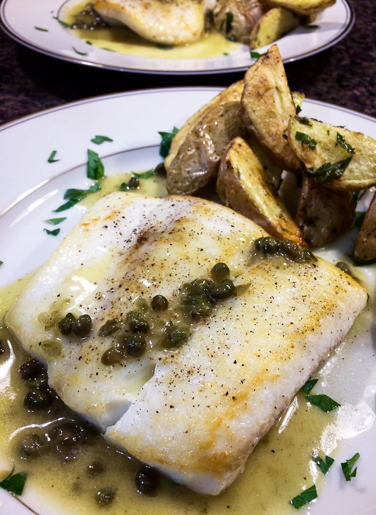 lemon caper halibut mcb